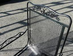 Mesh Patio Table Wrought Iron Mesh Chairs With Wi Mesh Top Table