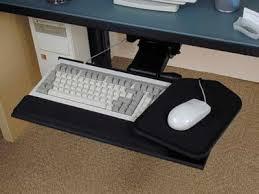 Computer Desk Without Keyboard Tray Fox Bay Industries Inc Ergonomic Keyboard Trays
