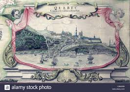 Map Of Quebec View Of Quebec City On The St Lawrence River In A 1688 Map Of