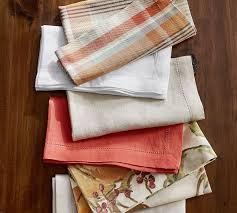 Pottery Barn Kitchen Towels Harvest Pumpkin Napkins Set Of 4 Pottery Barn