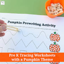 k tracing worksheets with a pumpkin theme