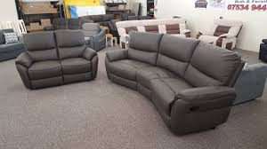 Scs Sofas Leather Sofa Mbmegabargains Scs Teo Brown Leather 4 2 Seater Recliner Sofas