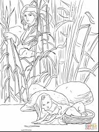 amazing baby moses and miriam coloring page with moses coloring