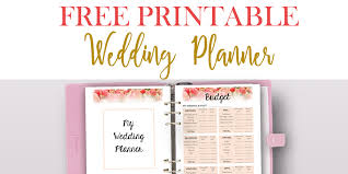 your wedding planner free printable wedding planner for your wedding binder