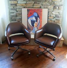 Wooden Office Chairs With Casters Amazing Mid Century Modern Office Chair Mid Century Modern