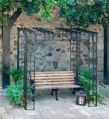 Wrought Iron Pergola by Amazing 10 X 10 Wrought Iron Gazebo Garden Landscape