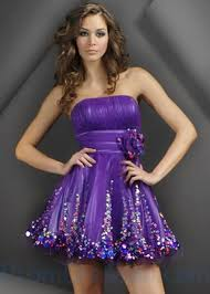 buy tailor made strapless ruffle tulle beading and sequin purple a