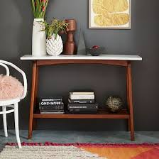 west elm entry table reeve mid century console west elm