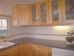 Kitchens With Tile Backsplashes Kitchen With Subway Tile Backsplash And Oak Cabinets Google