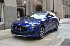 chrome blue maserati 2017 maserati levante stock m604 s for sale near chicago il