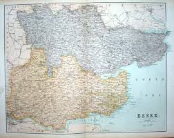 Essex England Map by Parliamentary Divisions Of Essex