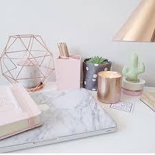 Desk Decoration Ideas Rose Gold Office Supplies Marble Office Decor Desk Decor Ideas