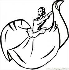 dancingmexicanwoman ostno jpg 650 659 coloring 6 pinterest