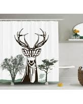 Moose Bathroom Accessories by Summer Savings On Antlers Decor Shower Curtain Set Deer With