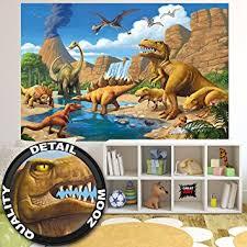wallpaper childrens room adventure dinosaur wall
