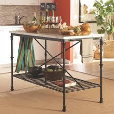 kitchen island marble top coaster kitchen carts island with faux marble top within cart