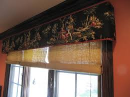 custom cornice with bamboo blinds patty everett design asian