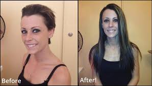 hair extensions for short hair before and after long hair to short hair before and after hairstyle for women man