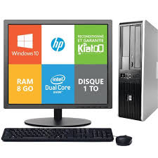 ordinateur bureau hp ordinateur de bureau hp 7800 dual 8go ram 1 disque dur