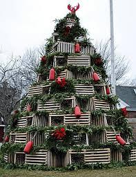 unique christmas unique christmas trees ladders books bottles lobster traps