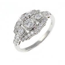 sheldon bloomfield platinum 0 78ct pave set art deco style diamond