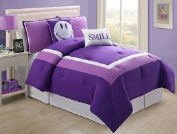 Girls Bed In A Bag by Girls Kids Bedding Purple Smile Bed In A Bag Purple White Bed