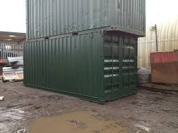20ft x 8ft green used tunnel shipping container u2014 www