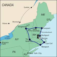 map of ne usa and canada new self drive tours from auto tours usa