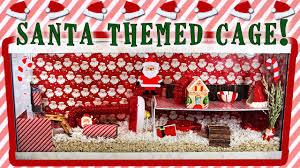 gingersnap s santa themed hamster cage