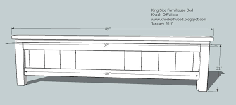 King Size Platform Bed Building Plans by Ana White Farmhouse King Bed Plans Diy Projects