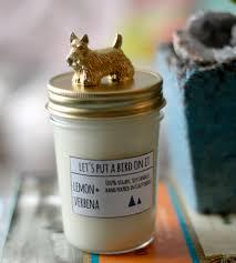 scottish terrier lid lemon u0026 verbena scented soy candle home