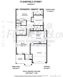 backsplit floor plans 75 sheffield street dundalk north or shelburne ontario