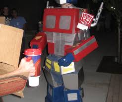optimus prime transformers costume with pictures