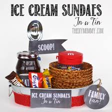 Game Night Gift Basket A Gift In A Tin Ice Cream Sundaes In A Tin The Diy Mommy