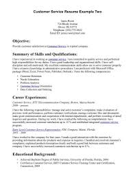 Great Customer Service Resumes Cover Letter Good Customer Service Resume Examples Excellent