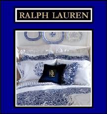 Ralph Lauren Comforter King Ralph Lauren Porcelain Blue Complete 4 Pc Set Includes 1 King