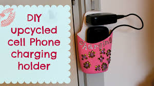 diy phone charger diy upcycled cell phone charging holder youtube