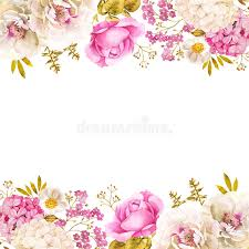 pink white gold wedding floral decoration wedding background in pink white and gold stock