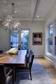 Track Lighting Dining Room by Pleasing Cream Dining Table With Centerpiece Live Edge Wood