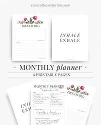 as 25 melhores ideias de monthly planner template no pinterest