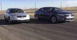 2017 vw passat us vs 2002 passat comparison includes a race