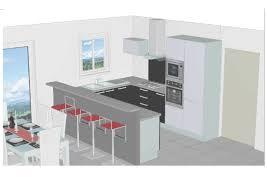 projet cuisine 3d plan 3d cuisine aménagée sur mesure acn à rennes with regard to plan