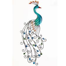 peacocks home decor metal peacock wall art home decor brylanehome decor