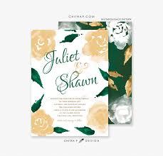 White And Gold Wedding Invitation Cards Green U0026 Gold Wedding Invitations Printed White Watercolor Irish