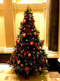 burnt orange tree ornamentsorange