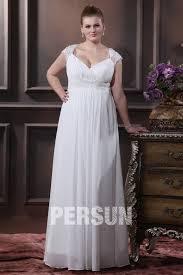 robe mari e grande taille robe de mariée grande taille empire ligne a col en v appliques