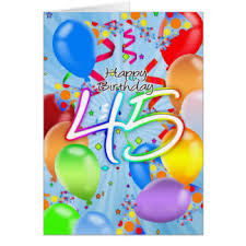 45th greeting cards zazzle co uk