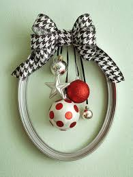 silver frame wreath w ornaments by whimsicalwaresbyo