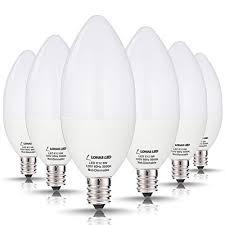 e12 candelabra base led light bulbs lohas candelabra led bulbs 60 watt equivalent 6w leds daylight
