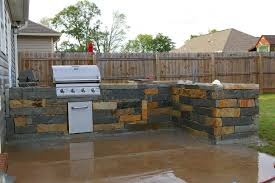 island how to build a stone outdoor kitchen how to build a